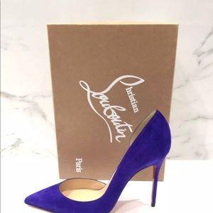 6a600997d019 Christian Louboutin Shoes - CHRISTIAN LOUBOUTIN Iriza 100 Veau Velours  Purple